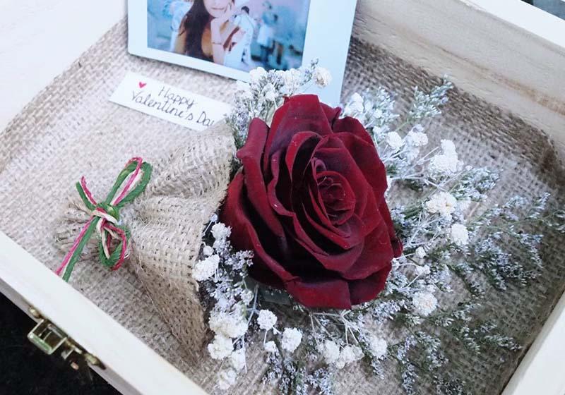 ดอกกุหลาบสีแดงเข้ม ความรักอันลึกซึ้ง ไม่จืดจางไปจากใจ