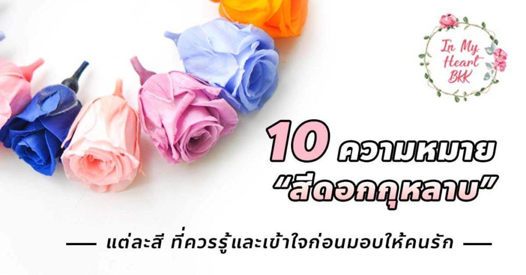 10 ความหมายของสีดอกกุหลาบ แต่ละสี